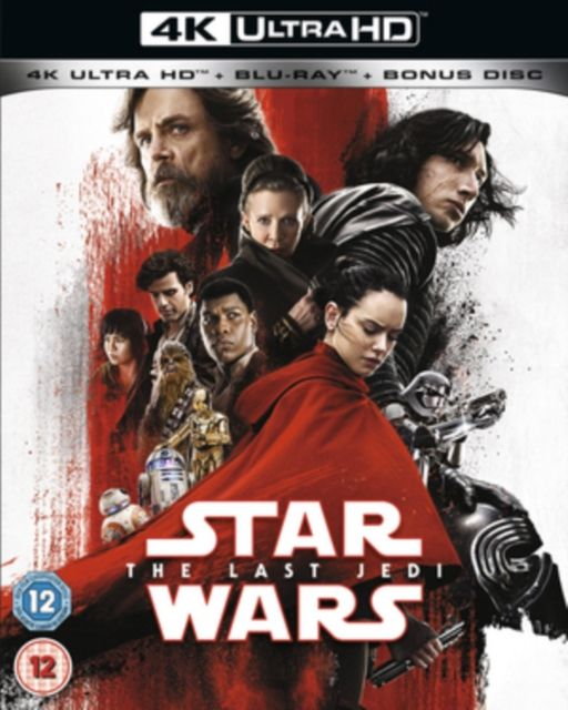 Star Wars The Last Jedi 4k UHD HD DVD 2d Blu-ray 2017